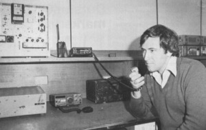 Robert Brand in the Paddington Amateur Radio Club Room around 1980